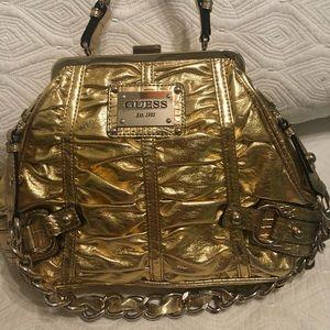 Handbags - Guess  metallic gold bag with chain strap